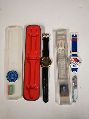 2 x montre watch Swatch Jeux olympiques Atlanta 1996 Benetton Bulova limited 92