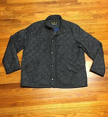 Barbour Mens Chelsea Quilted Jacket Flyweight Lightweight Navy Size Xxl 2Xl