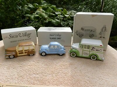 ORIGINAL SNOW VILLAGE Accessory Lot of  VEHICLES CARS
