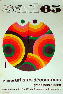 Auriac Originalplakat sad65, 44.Salon Artistes Decorateurs 1965, Grand Palais
