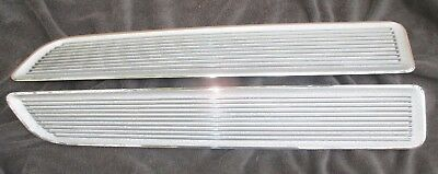 BARRACUDA HOOD INSERTS 67 - NICE RECHROME! Cuda MOLDINGS plymouth