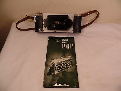 Vintage Stereo Realist 35mm Camera w/Instructions David White Co.