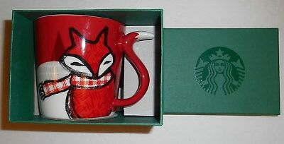 2016 Starbucks Red Fox Tail Christmas 12 oz. Mug New In Box