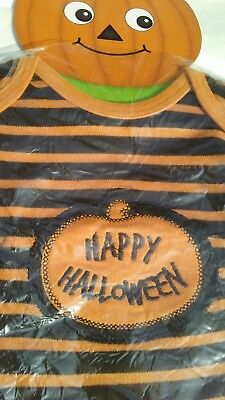 Bootiful Baby Happy Halloween Long Sleeve One Piece Grasslands Road 3-6 Mos New
