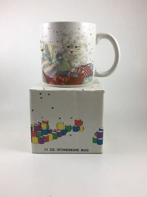 Vintage GIORDANO Cats Kitten Coffee Mug (1985) NIB