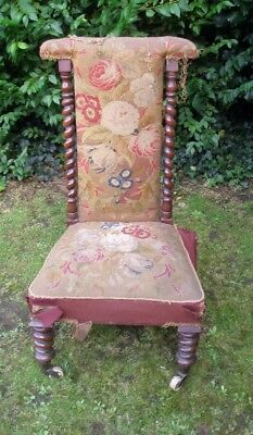 1 mahogany Victorian,Edwardian prayer chair.