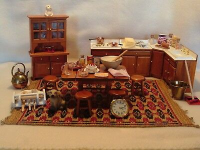 Dolls house furniture 12th scale kitchen mixed lot