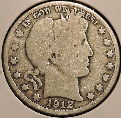 Barber Half - 1912-D - Historic Silver! - $1 Unlimited Shipping