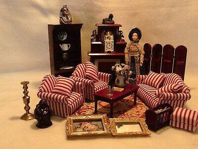 Dolls house furniture 12th scale lounge mixed lot