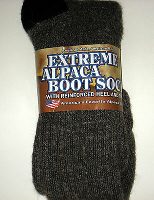 L@@K! READ! EXTREME ALPACA BOOT SOCK Size 13-15 Stay WARM DRY SOFT THICK **