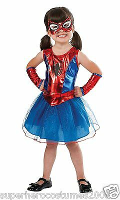 The Amazing Spider-Man Spider Girl Child Costume SIZE 2T - 4T NWT 880853 Rubies