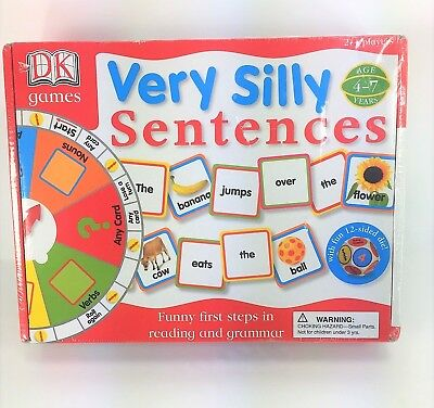 New DK Games Very Silly Sentences  Ages 4-7 Reading Grammar Board Game