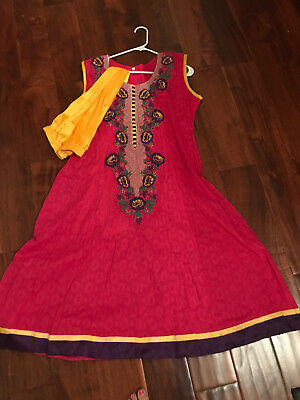 New ethnic Indian Bollywood designer straight wedding party salwar suit dress r