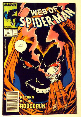 Marvel Comics Web Of Spider-Man 38 Fn+ Return Of The Hobgoblin Appearance Cover