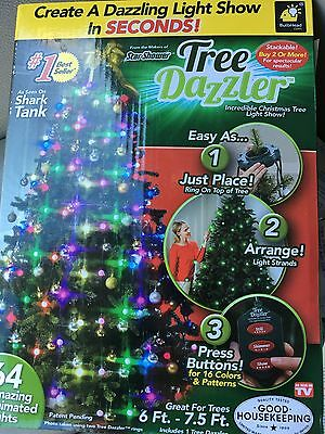 bulb head tree dazzler christmas tree light show new in package as seen on tv
