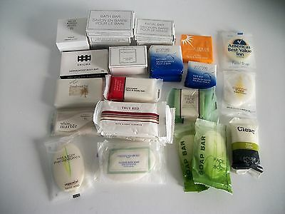 Lot of 33 Assorted Hotel Motel Individually Wrapped Bar Soaps Great