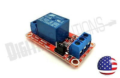 12V Relay Module 1 Channel With OPTO Isolation & High Low Level Trigger
