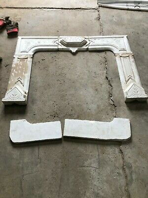 Vintage, Marble fireplace, late 1,800s?