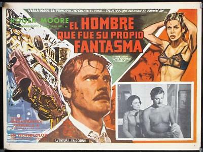 L523 THE MAN WHO HAUNTED HIMSELF original  Mexican Lobby card '70 Roger Moore