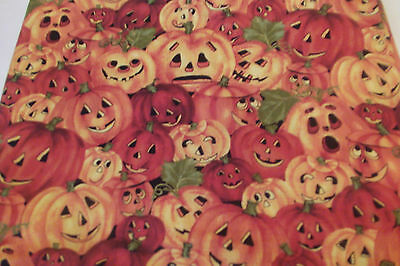 Smiling Pumpkins--Halloween/Autumn Cotton Fabric