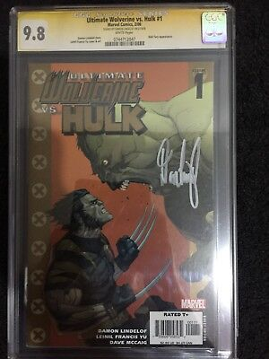 Ultimate Wolverine Vs Hulk #1 CGC SS  graded 9.8 signed by Damon Lindelof