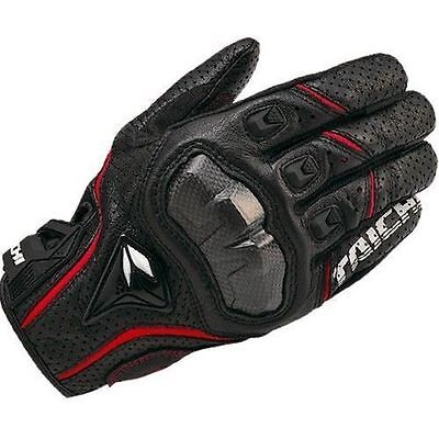 Mens RST390 Red Motorcycle  Perforated leather Mesh Gloves RS Taichi size XL