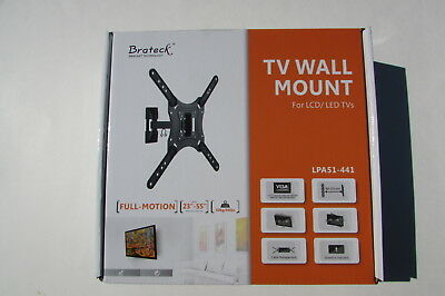 "Brateck Full-motion TV Wall Mount 23""-55"" 30kg/66lbs LED LCD flat panel TV HDTV"