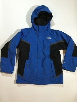 The North Face Boys Size M 10 12 Triclimate 2 in 1 jacket W/Fleece Inside Blue