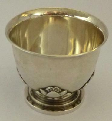 Georg Jensen Sterling Silver Eggcup: #662 (ACORN) by Johan Rohde in 1915
