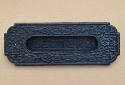Victorian Cast Iron Letter Slot plate 1880s, Mail slot, Nice Detail, 7.75x3 in.