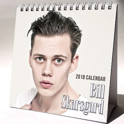 Bill Skarsgard Desktop Calendar 2018 NEW + FREE GIFT 3 Stickers It Pennywise
