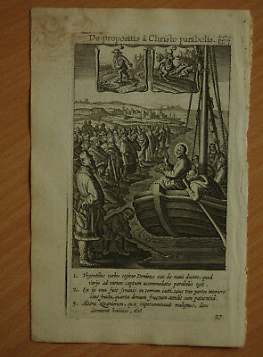 Original print bible scene about 1600 - with copper engraving of P.P. Bouche