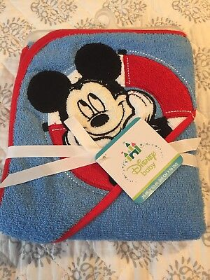 Baby Boys Mickey Mouse hooded Towel NWT