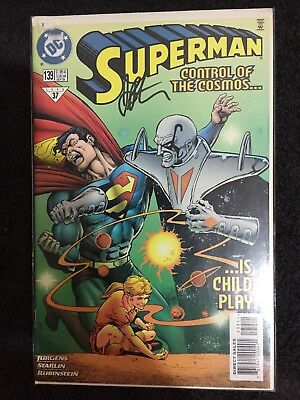 DC Comics Superman Vol 2 #139 October 1998  signed by artist Jim Starlin