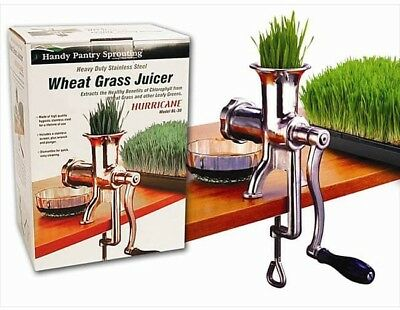Kitchen Shop Manual Wheat Grass Juicer Diet Healthy Wellness Tool Extractor