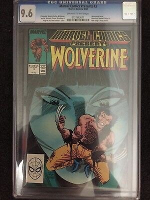 CGC 9.6 Marvel Comics Presents Wolverine #3. 1988