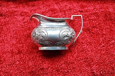 Ornate Silverplated  Cream Jug by Nowill, with corporate mark Good Condition
