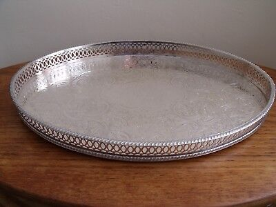 Silver Plated Gallery Tray, Pepper & Hope