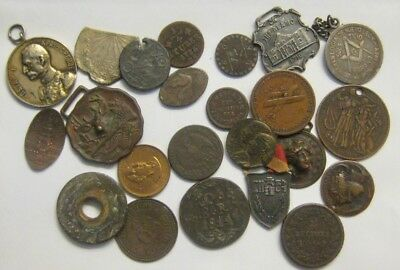Large Group Lot of Medals Tokens