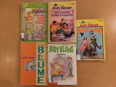 lot of 5 children books by Judy Blume for your classroom or kids, lot#2