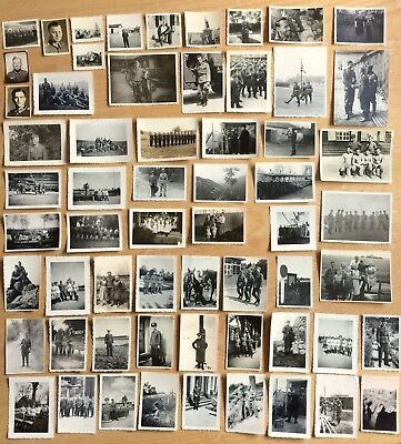 Original Ww2 Lot Of 61 German Wehrmacht Photographs All Personnel Photos Wwii