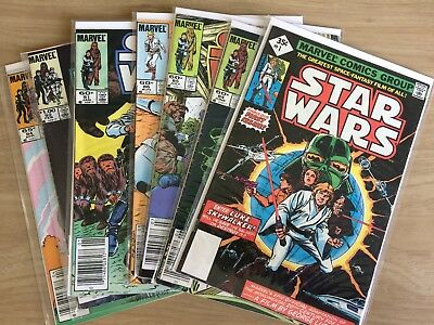 Star Wars Comics Lot of 7 (Marvel Original Run)