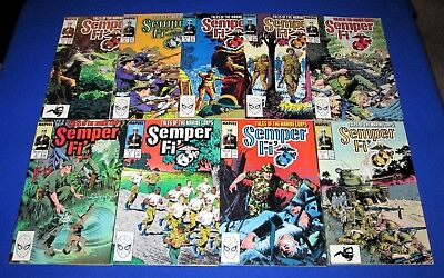 SEMPER FI' Tales of The Marine Corps Issues 1-9 [Marvel 1989] NM- or Better!
