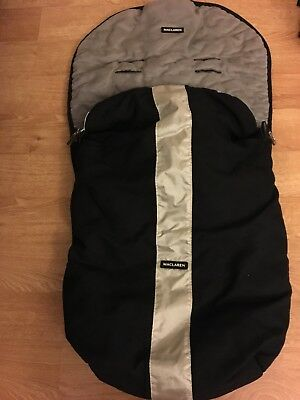 Maclaren XT Footmuff excellent condition black and silver