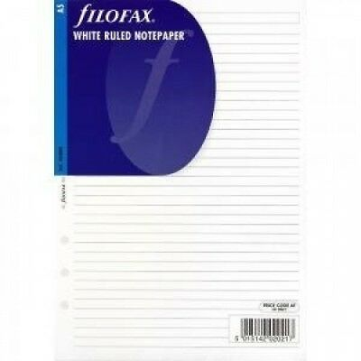 (A5 White Ruled Notepaper) - Filofax Refills Undated All Sizes & Variations