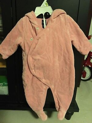 Baby Gap Girl Bear Footed One Piece Coat Size 3-6 Months (Excellent)