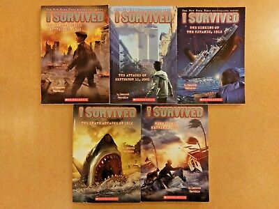 lot of 5 I survived books for your classroom or kids