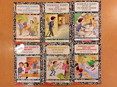 lot of 6 Horrible Harry children books for your classroom or kids