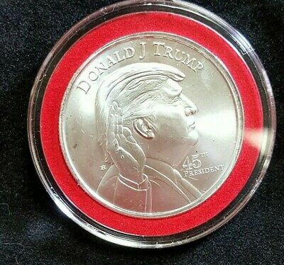 President Donald Trump Pendant (Red Border), 1oz. .999 Fine Silver Round New