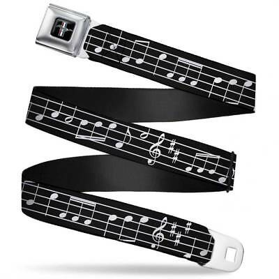 Ford Mustang Music Notes Logo Licensed Belt Authentic Seatbelt Style Buckle Down